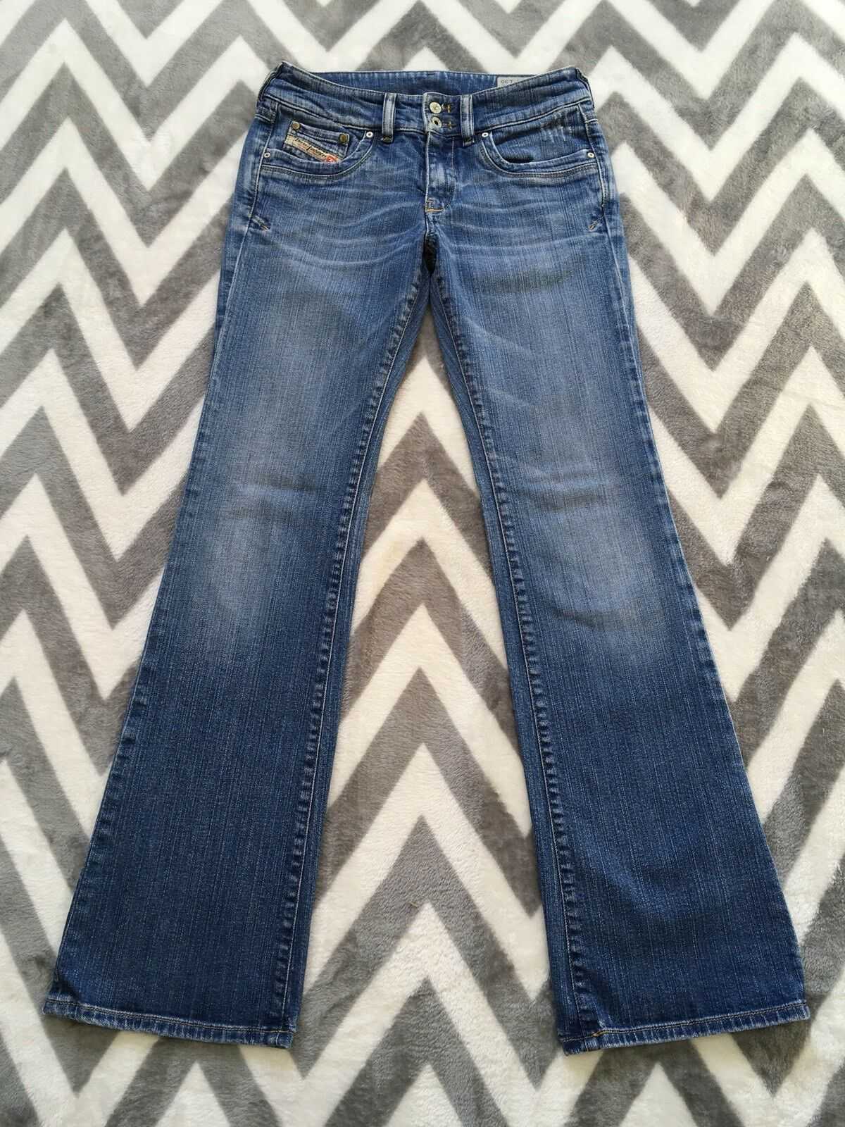 Diesel Ronhar Womens Jeans Stretch 28x30  Distressed Boot Cut  008DW