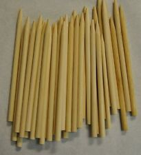 """CARAMEL CANDY APPLE / CORN DOG STICKS 200ct- Pointed Wood Skewers Dowels 6""""x1/4"""""""