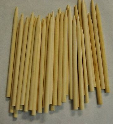"Corn Dog Sticks 200ct Caramel Candy Apple Pointed Wood Skewers Dowels 6""x1/4"""