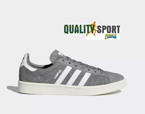Adidas Campus Grigio Suede Scarpe Shoes Uomo Sportive Sneakers BZ0085 2019
