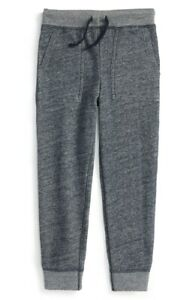 Ralph-Lauren-Boys-039-Loft-039-Twill-Terry-Cloth-Casual-Sweatpants-Size-5-Blue-Heather