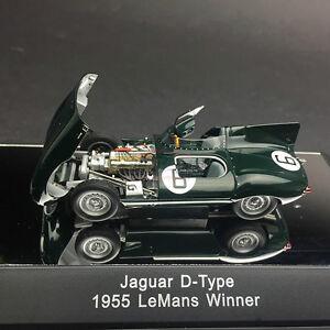 Nouveau 1/43 Autoart JAGUAR D TYPE 1955 Le Mans 24 h vainqueur N.6 ouvrir fermer modèle de ...