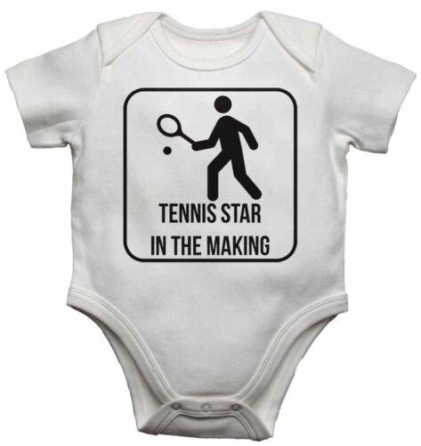 TENNIS STAR nel rendere-personalizzata Baby Gilet BODYSUITS per Ragazzi Ragazze