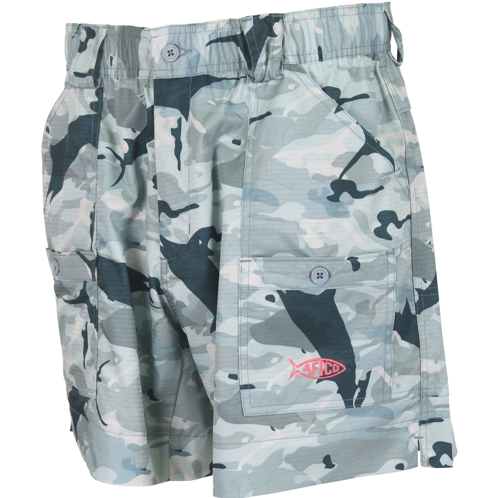 AFTCO TOFS Camo Mens Short, Grey Camo, 40