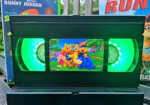 Disney Winnie The Pooh Retro VHS Night Light, Desk Lamp, Led, Bedroom Lamp, Kids