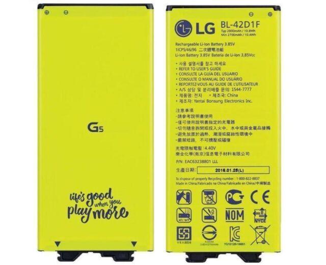 Batería Original BL-42D1F 2800mAh para Lg G5 H850 Móvil Batería
