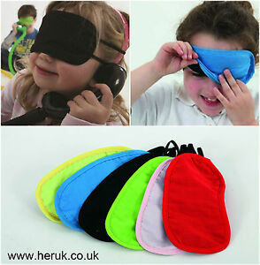 Colourful Blindfolds for Children kids game Sensory SEN ADHD Montessori 1 or 6