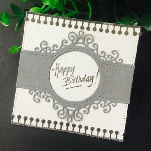 Lace Round Cutting Dies Stencil Scrapbooking Album Paper Card Embossing Decor