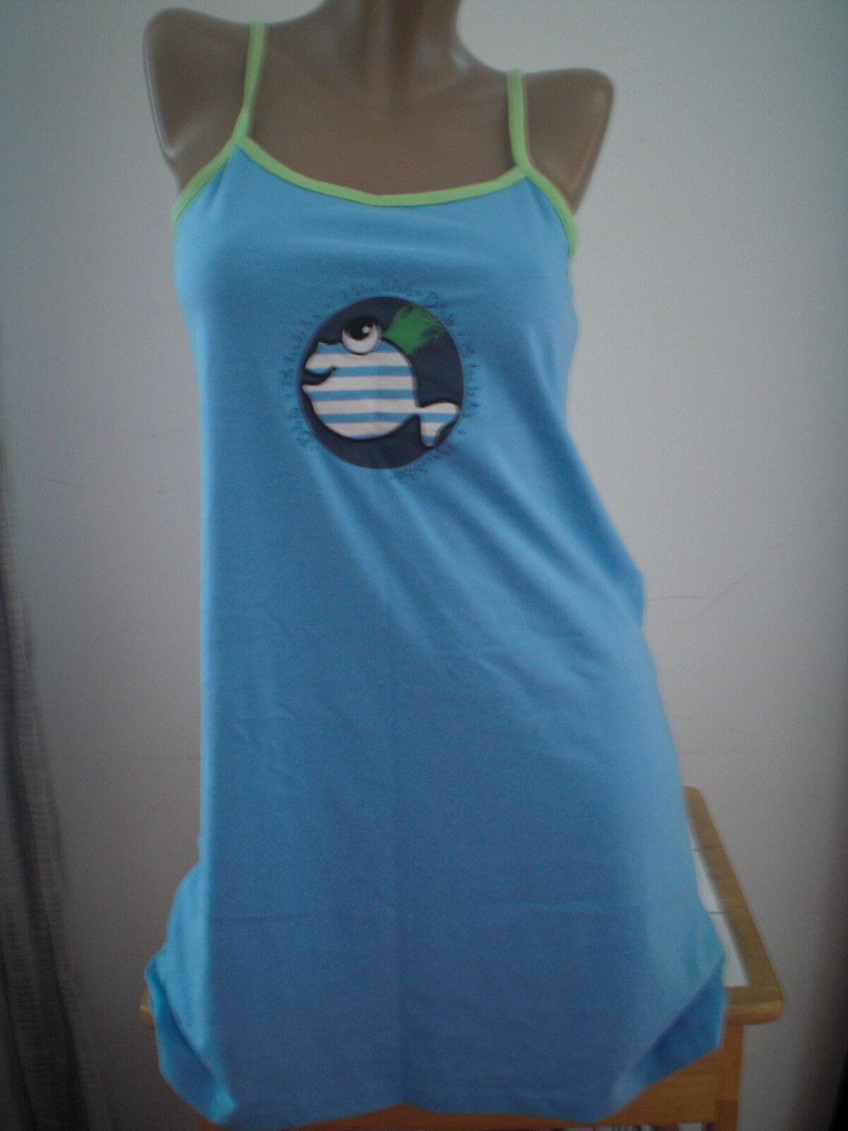 Dress knit woman size 38 - 40 NEW colour bluee light playero dress ref. 3-4