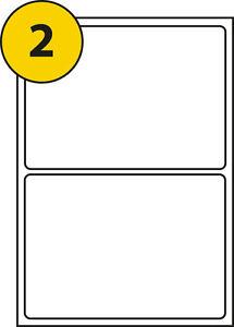50 sheets of a4 labels 199 6x143 5mm 2 labels per sheet l7168