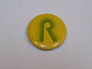 R Initial Name Logo Pin Vintage Fun Old Metal Button Round Pinback Robert Rachel