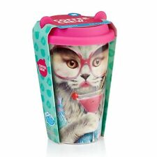 Mustard Reusable Travel Coffee Mug Cup - Coffee Crew Cat