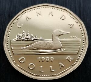 CANADA-LOONIE-1989-PROOF-HEAVY-CAMEO