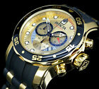 Invicta Men's 48mm Pro Diver Swiss Chronograph Champagne Dial SS Watch-17566