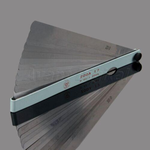 Carbon Steel Feeler Gauge 17 Blades Metric Gap Measure Check Tool 200mm Length
