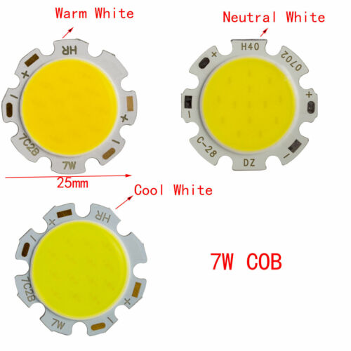 10x 50x 1W 3W 5W 7W LED SMD COB Chip With Star PCB High Power Beads White Light