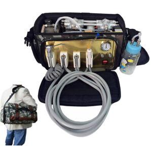 Dental-Lab-Portable-Turbine-Unit-with-Air-Compressor-Suction-System-3-Way-Syring