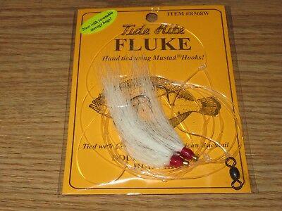 1 FLUKE RIGS FLATFISH TIDE RITE R568W FLOUNDER SALTWATER RIG FISHING MUSTAD