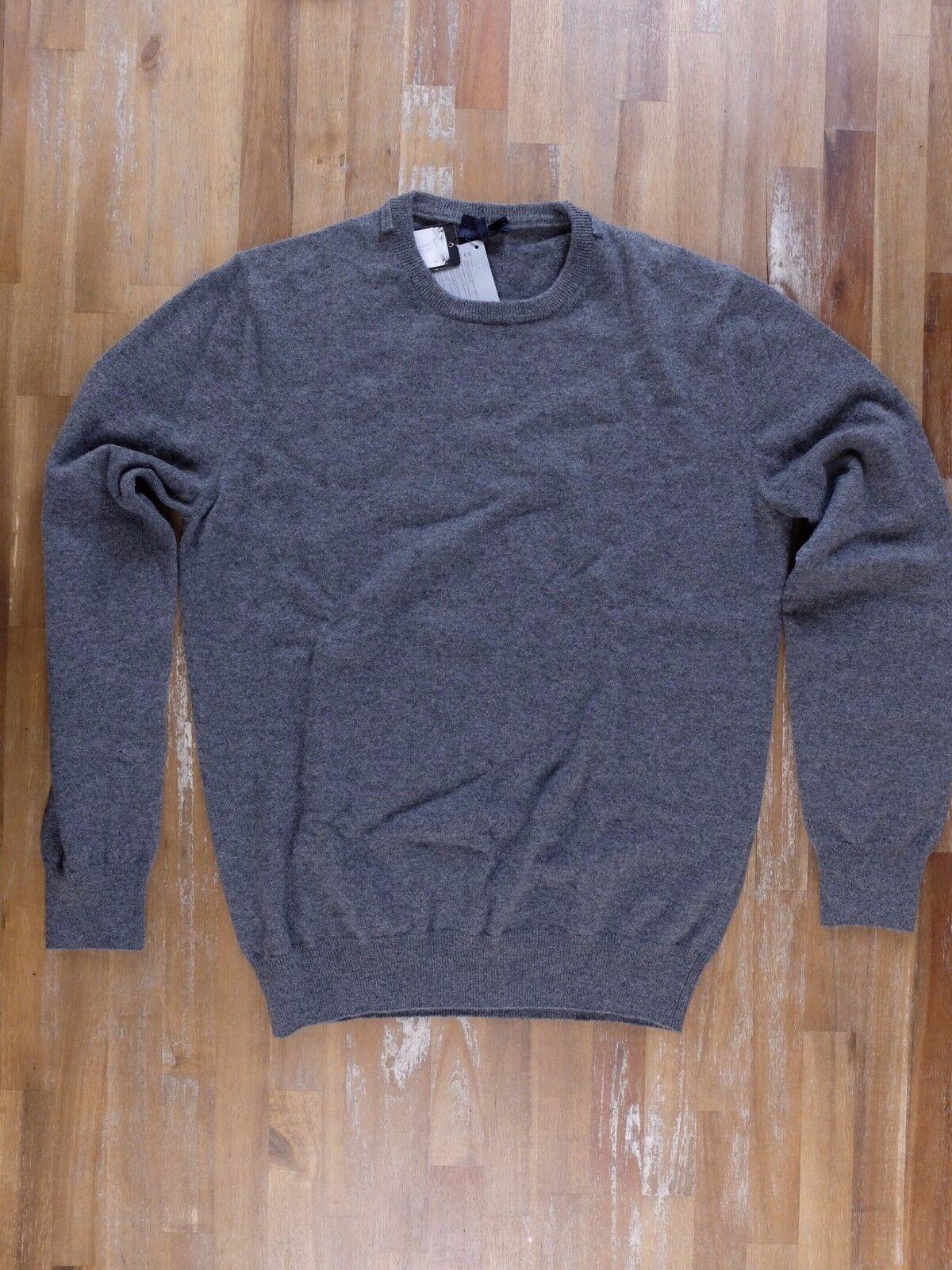 LANVIN Paris solid grau 100% cashmere sweater authentic - Größe 52 / Large - NWOT