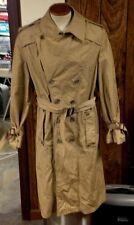 vintage SAKS FIFTH AVENUE TRENCH COAT MEN'S M/L medium~large KHAKI/TAN VERY RARE