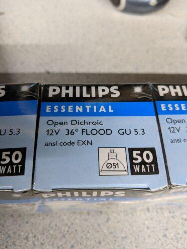Narrow Flood 5 Pack PHILIPS 50 Watt Halogen Light Bulb MR16 GU5.3 12V Spot