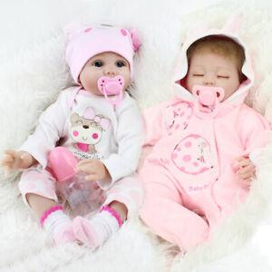 Reborn Dolls Twins Real Baby Doll Newborn Silicone Vinyl Lifelike Girl Dolls Ebay