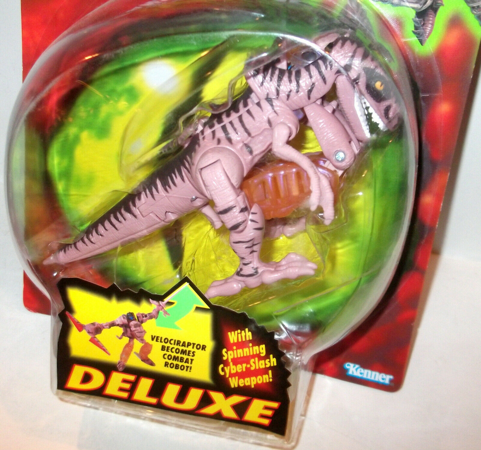 VINTAGE ✰ 1995 BEAST WARS ROUND BUBBLE DINOBOT Kenner - NICE MOC IMMACULATE CARD