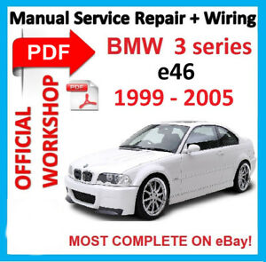 factory workshop manual service repair for bmw series 3 e46 m3 1999 rh ebay com bmw 3 series e46 workshop manual free download bmw 3 series e46 workshop manual free download