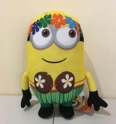 Plush Illumination Toy Factory NWT Despicable Me Hawaiian Hula Minion 9.5 in