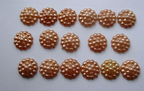 100 x 10 mm Flat Back Flower Resin Pearls Craft Wedding Scrapbook Gems