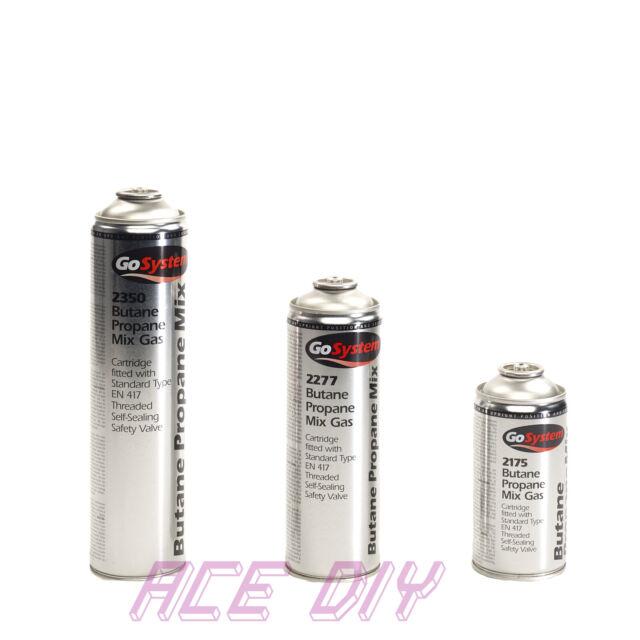 Butane Propane Gas Mix | EN 417 Cartridge Threaded Self Sealing Valve Go  System