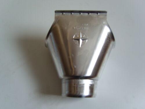 // 80 mm Fallrohr Dachrinnenwassereinlauf 250 Aluminium Einhangstutzen 8-tlg.