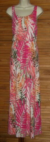 Style Sleeveless BOHO Pink Maxi Dress Gown Size JR M/&L NWT #CL166 Sonoma Life