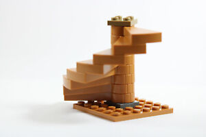 Base 8x8 plate not included LEGO Spiral Staircase Dark Tan Colour Brand New