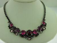 Sorrelli Pink Ruby Necklace Ncw11aspr Antique Silver Tone