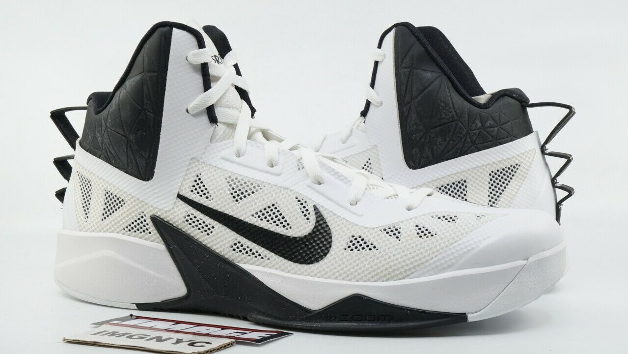 NIKE ZOOM HYPERFUSE 2013 TB NEW SIZE 15 WHITE BLACK 615496 100