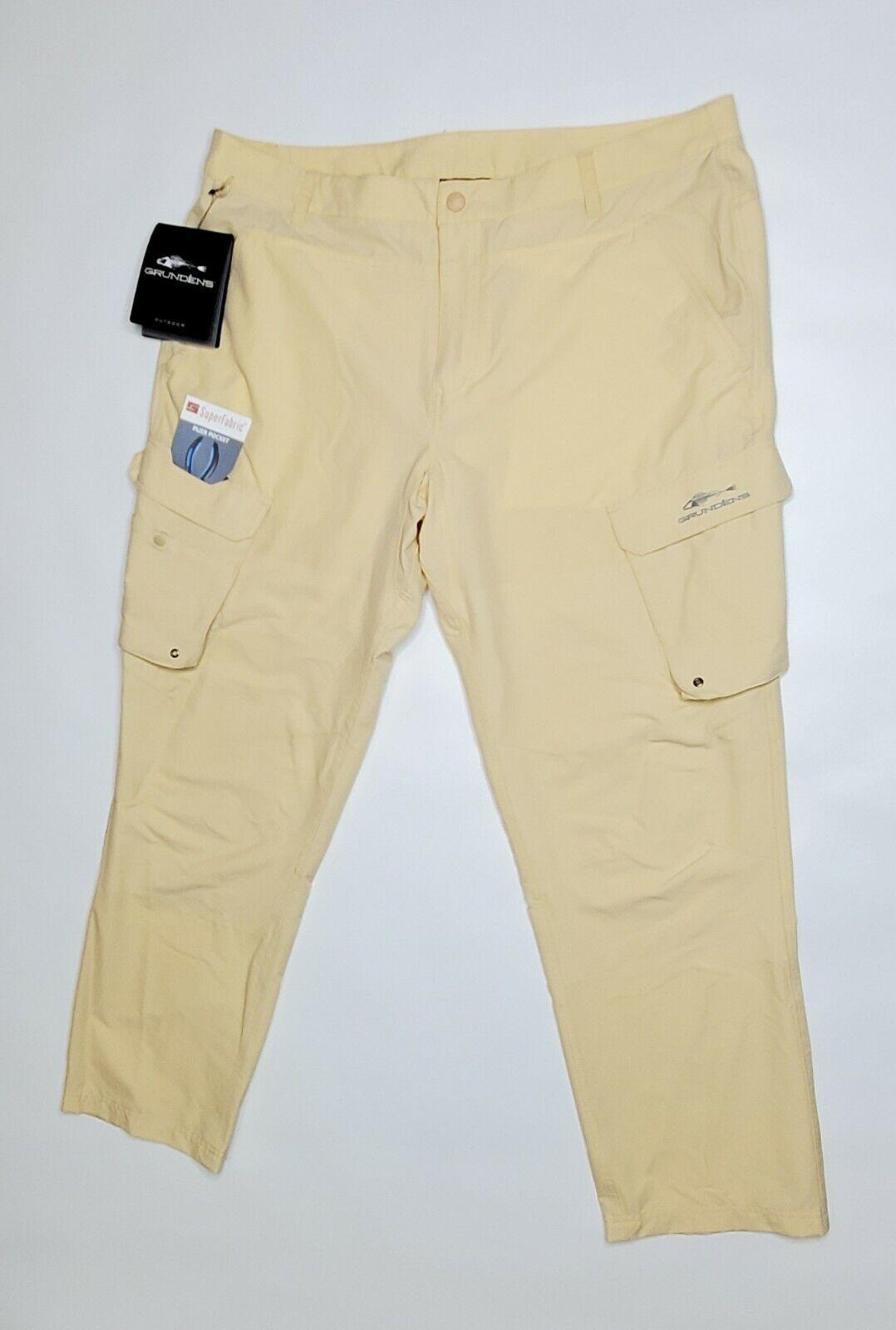 Grundens Men's  Outdoor Breakwater Fishing Pants Sandstone MSRP  90  online-shop