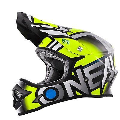 ONeal 3 Series RADIUM Motocross MX Motorcycle Crash Helmet with Adjustable Peak
