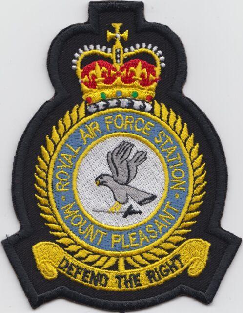 RAF Base Mount Pleasant Falklands Royal Air Force Embroidered Crest Badge Patch