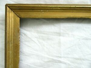 Antique-Fits-8-X-10-034-Gold-Picture-Frame-Wood-Gesso-Fine-Art-COUNTRY-Primitive