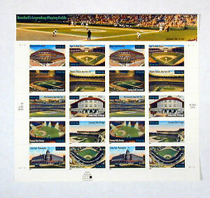 US-Postal-Service-Stamps-Baseball-039-s-Legendary-Playing-Fields-Free-U-S-Shipping