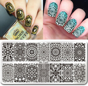 Born Pretty Nail Art Stamp Plate Manicure Image Template Floral