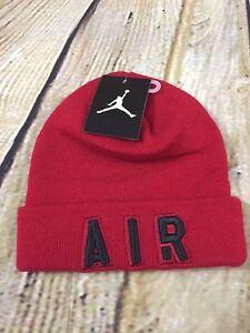 63a785bffbb Boys Air Jordan Cuffed Beanie Winter Hat 9A1709-R78 Gym Red Brand ...