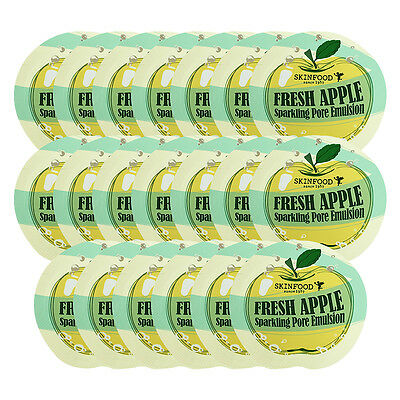 [SKIN FOOD] Fresh Apple Sparkling Pore Emulsion Sample 20pcs / Korea cosmetic