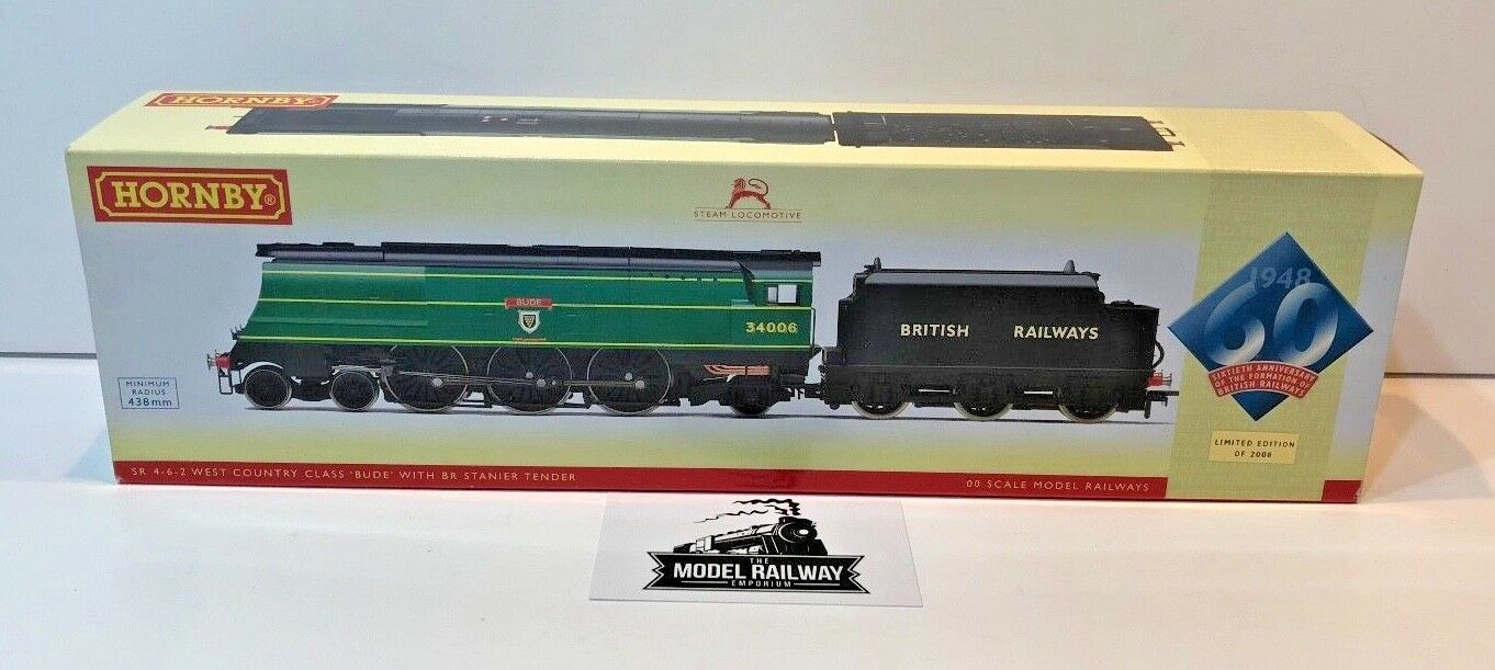 HORNBY 00 GAUGE - R2685 - BR 4-6-2 1948 NATIONALISATION WEST COUNTRY BUDE - NEW