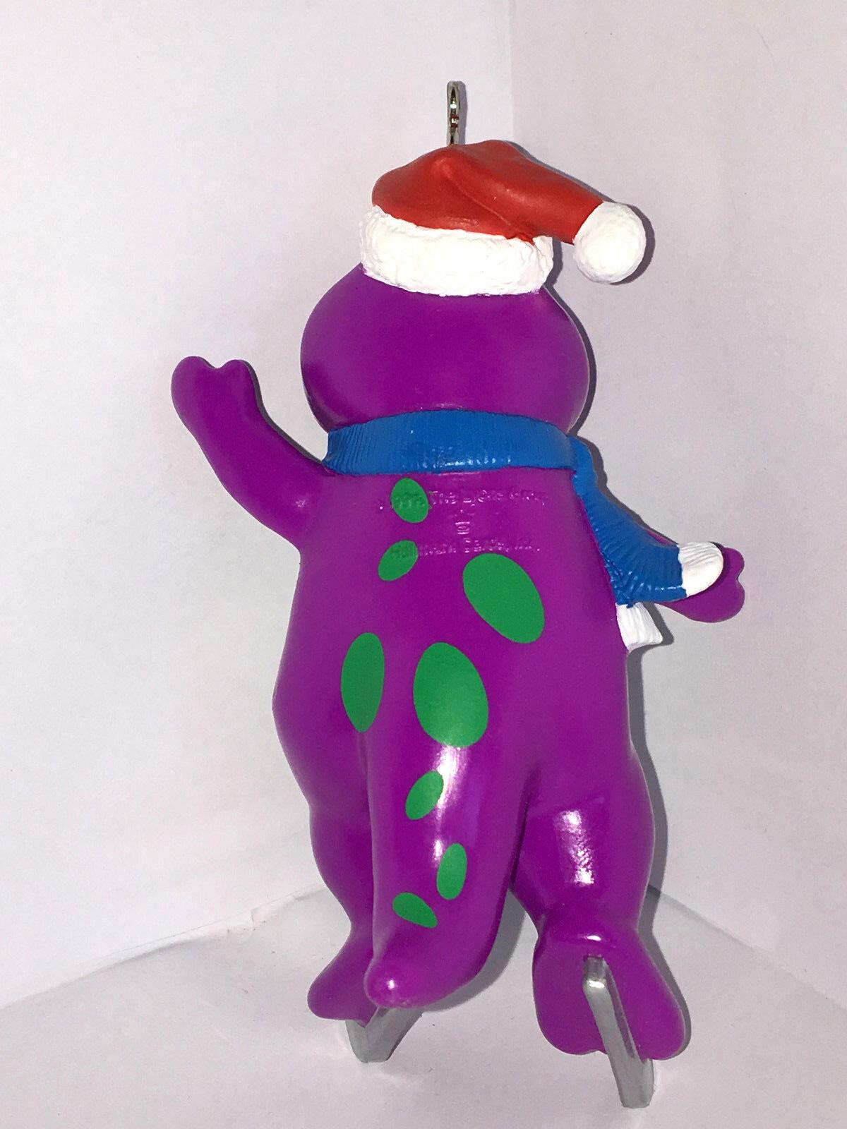 1994 Hallmark Keepsake Christmas Tree Ornament Barney Purple ...