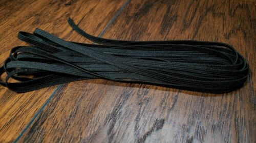 BLACK 1//4 Inch Elastic Flat in Knit for Face Masks by YardsSoft Sewing Mask