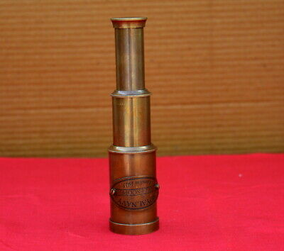 "Antique vintage maritime 20/"" brass telescope leather marine spyglass scope gift"