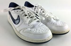 0388c0b6f131 Nike Air Jordan 1 Low Retro OG Midnight Navy - White Blue - 705329 ...