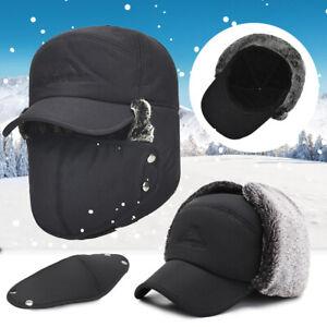 Cappello-da-Aviatore-Invernale-Paraorecchie-Snow-Ski-Mask-Cappuccio-Scaldacollo